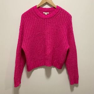 American Eagle Knit Pullover Sweater Pink Sz Small